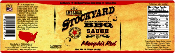 SALSA BARBECUE STOCKYARD - MEMPHIS RED - 350 ML