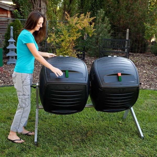 Lifetime compostiera sospesa dual compost da 380 lt for Compostiera da giardino