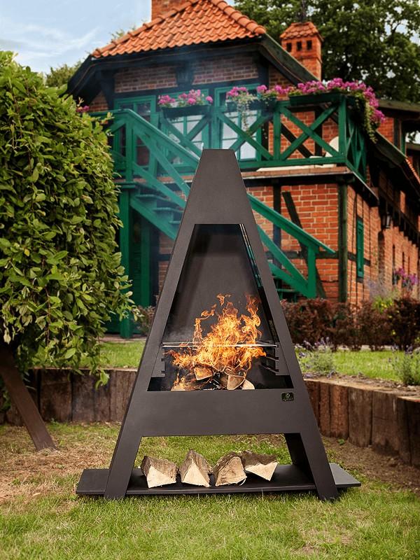 Nomlilo blf 02 braciere in acciaio con griglia for Griglia per barbecue bricoman